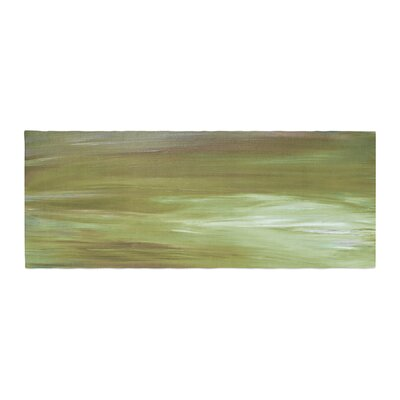 Ebi Emporium Resonance 2 Olive Painting Bed Runner