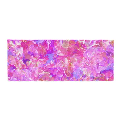 Ebi Emporium Bloom On! Abstract Bed Runner Color: Pink