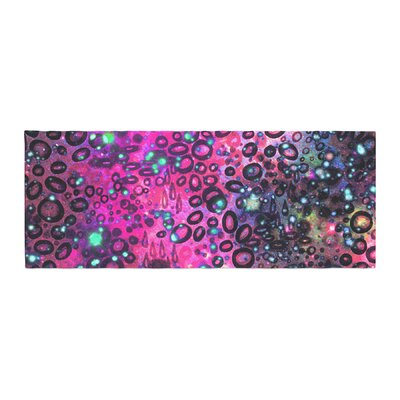 Ebi Emporium Rainbow Dotty Ocean Bed Runner Color: Purple