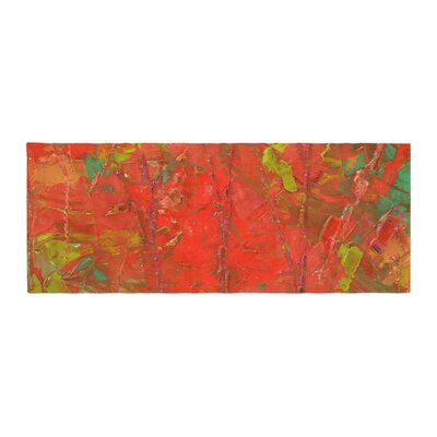 Jeff Ferst Crimson Forest Bed Runner