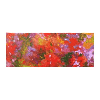 Jeff Ferst Summer Garden Floral Painting Bed Runner