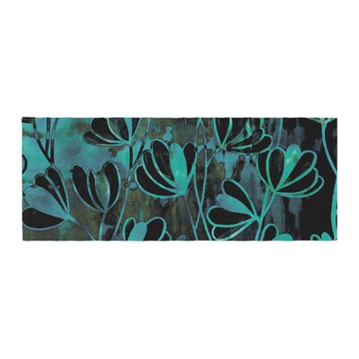 Ebi Emporium Efflorescence, Night Blossoms Watercolor Bed Runner