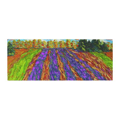 Jeff Ferst Flowers in the Field Bed Runner