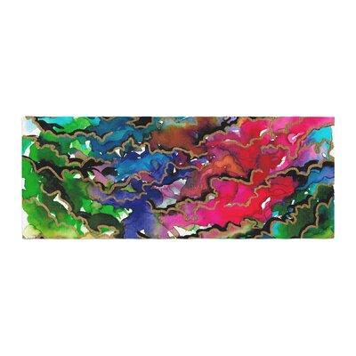 Ebi Emporium Summer Swells Watercolor Bed Runner