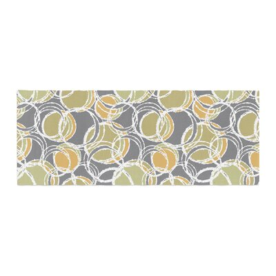Julia Grifol Simple Circles Bed Runner Color: Gray