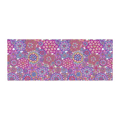 Julia Grifol My Happy Flowers Bed Runner Color: Pink