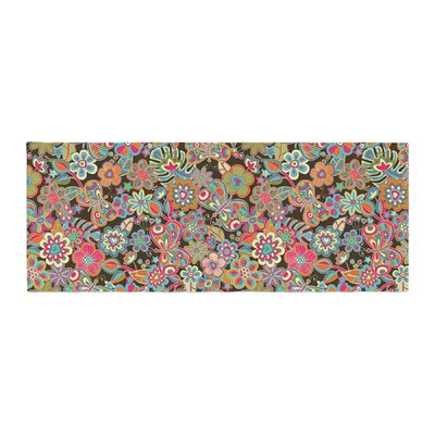 Julia Grifol My Butterflies and Flowers Floral Bed Runner Color: Brown