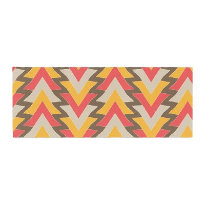 Julia Grifol My Triangles Bed Runner Color: Red