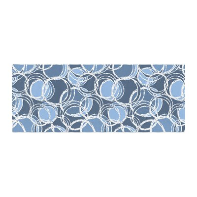 Julia Grifol Simple Circles Bed Runner Color: Blue