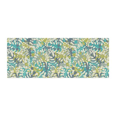 Julia Grifol Tropical Leaves Bed Runner