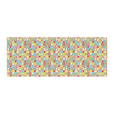 Julie Hamilton Colorful Check Checkered Bed Runner