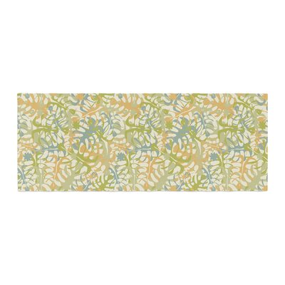 Julia Grifol Warm Tropical Leaves Bed Runner