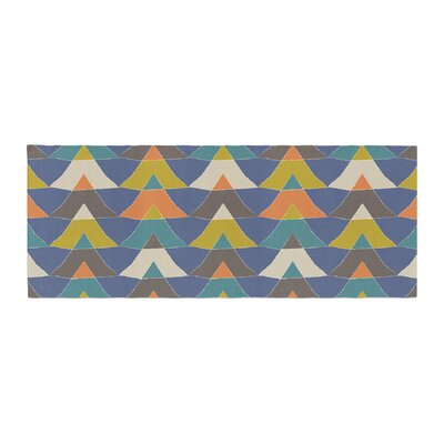 Julia Grifol Colorful Triangles Bed Runner