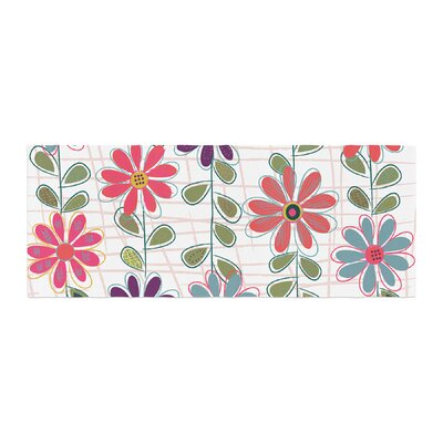 Jolene Heckman Fall Flowers Floral Bed Runner
