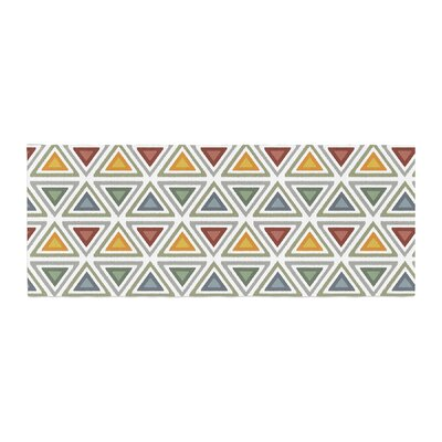 Julia Grifol Ikat Triangles Bed Runner