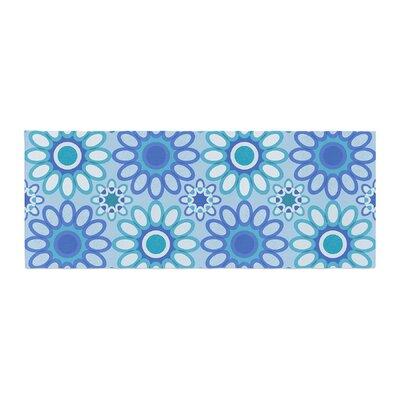 Julia Grifol Flowers Tile Vector Bed Runner