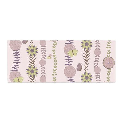 Judith Loske Flower Pattern Bed Runner