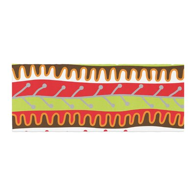 Jacqueline Milton Salsa Bed Runner Color: Orange