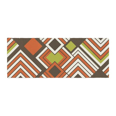 Jacqueline Milton Luca Bed Runner Color: Brown/Orange