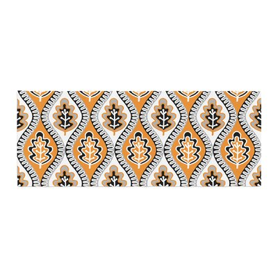 Jacqueline Milton Leaf Floral Bed Runner Color: Orange
