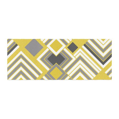 Jacqueline Milton Luca Bed Runner Color: Yellow/Gray