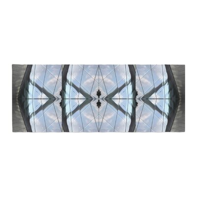 Tiny September Butterfly Glass Photography Bed Runner