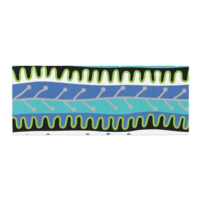 Jacqueline Milton Salsa Bed Runner Color: Blue