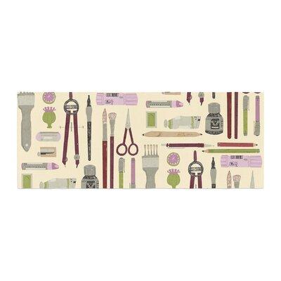 Judith Loske Art Supplies Pattern Bed Runner