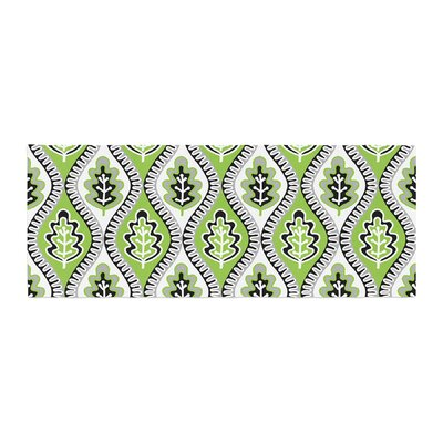Jacqueline Milton Leaf Floral Bed Runner Color: Green