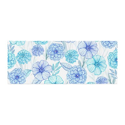 Julia Grifol Sweet Garden Watercolor Bed Runner