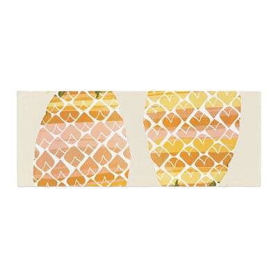 Judith Loske Happy Pineapples Bed Runner