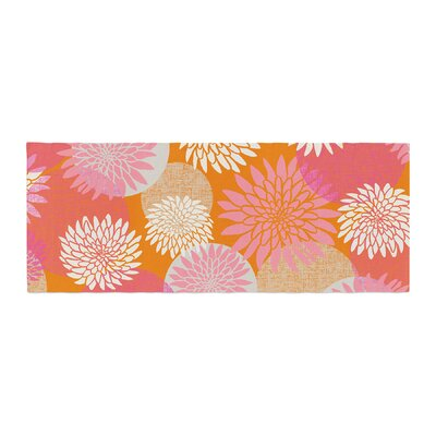 Jacqueline Milton Flower Power Illustration Bed Runner