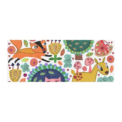 Jane Smith Woodland Critters Colorful Cartoon Bed Runner