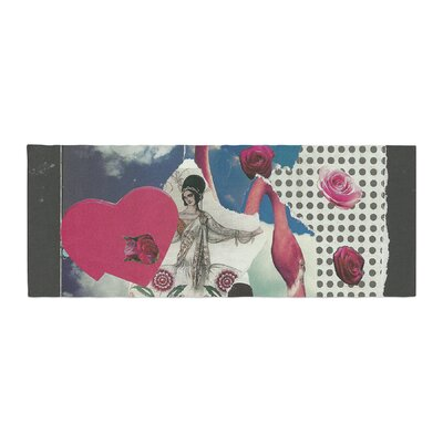 Jina Ninjjaga Flamingo Attack Pop Art Bed Runner