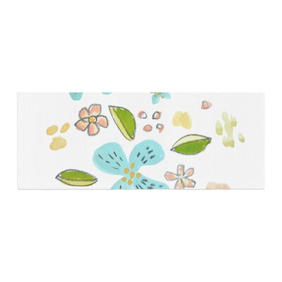 Jennifer Rizzo Happy Flower Dance Floral Bed Runner