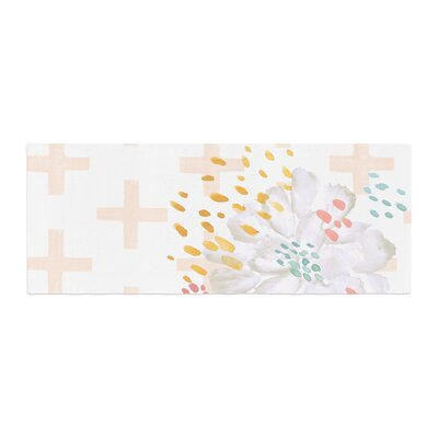 Jennifer Rizzo Bright and Pretty Floral Bed Runner Color: Pink