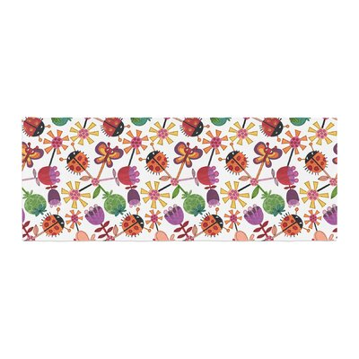 Jane Smith Garden Floral Plants Bugs Bed Runner