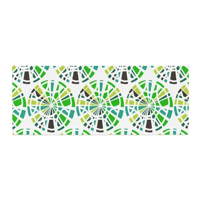 Patternmuse Precious Illustration Bed Runner Color: Emerald