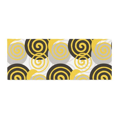 Patternmuse Dynamic Swirls Digital Bed Runner Color: Multi