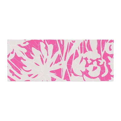 Patternmuse Inky Floral Illustration Bed Runner