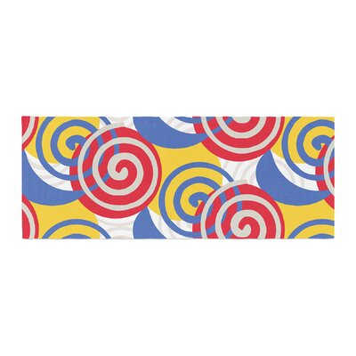 Patternmuse Dynamic Swirls Digital Bed Runner Color: Yellow