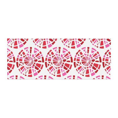 Patternmuse Precious Illustration Bed Runner Color: Ruby