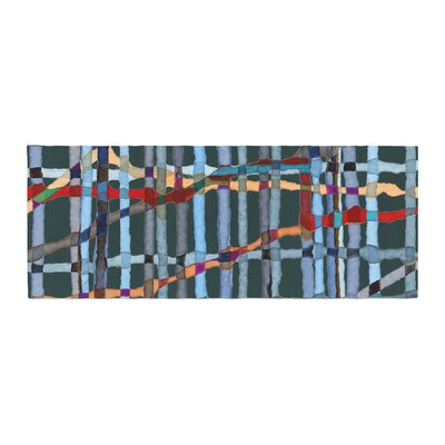 Patternmuse Midnight Bamboo Painting Bed Runner