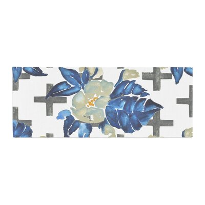 Jennifer Rizzo Plus Sign Floral Floral Bed Runner