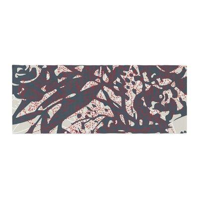 Patternmuse Inked Floral Illustration Bed Runner