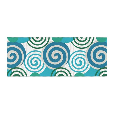 Patternmuse Dynamic Swirls Digital Bed Runner Color: Purple