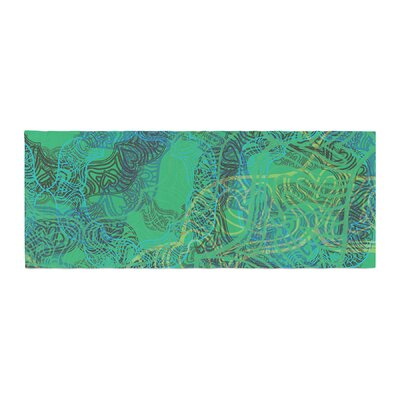 Patternmuse Mandala Abstract Bed Runner