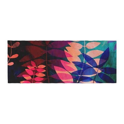 Jessica Wilde Dark Jungle Nature Bed Runner