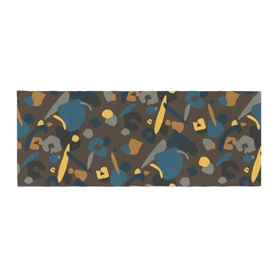 Luvprintz Abstract Leopard Bed Runner Color: Teal/Brown