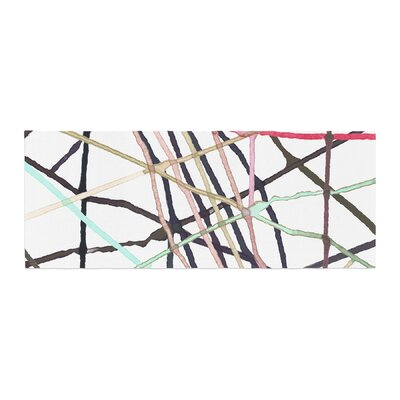 Patternmuse Love Tangle Watercolor Bed Runner